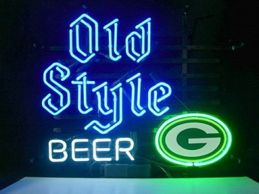 """Brand New Old Style NFL Green Bay Packers Football Beer Bar Neon Light Sign 20""""x 16"""" [High Quality]"""