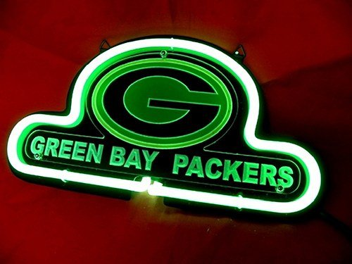 """Brand New NFL Green Bay Packers Football 3D Beer Bar Pub Neon Light Sign 10""""x8"""" [High Quality]"""