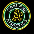 "Brand New MLB Oakland Athletics Baseball Beer Bar Pub Neon Light Sign 16""x 16"" [High Quality]"