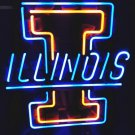 "Brand New NCAA Illinois Fighting Illini Beer Bar Pub Neon Light Sign 16""x16"" [High Quality]"