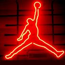 "Brand New NBA Michael Jordan Basketball Air Beer Bar Neon Light Sign 16""x 16"" [High Quality]"