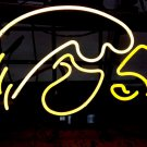 "Brand New NCAA Iowa Hawkeyes University College Football Beer Bar Neon Light 16""x14"" [High Quality]"