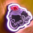 "Brand New Crown Royal 3D Beer Bar Purple Neon Light Sign 10""x8"" [High Quality]"