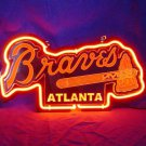 "Brand New MLB Atlanta Braves Baseball 3D Beer Bar Neon Light Sign 11""x7"" [High Quality]"