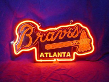 "Brand New MLB Atlanta Braves Baseball 3D Beer Bar Neon Light Sign 11""x7"" [High Quality]"