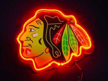 "Brand New NHL Chicago Blackhawks Football 3D Acryl Beer Neon Light Sign 10""x8"" [High Quality]"