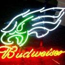 "Brand New NFL Philadelphia Eagles Budweiser Beer Bar Neon Light Sign 17""x15"" [High Quality]"
