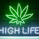 "Brand New High Life Cannabis Marijuana Leaf Neon Light Sign 18""x15"" [High Quality]"