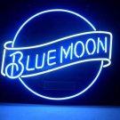 """Brand New Blue Moon Beer Bar Real Glass Tube Neon Light Sign 16"""" x16"""" [High Quality]"""