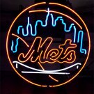 "Brand New MLB New York NY Mets Baseball Beer Bar Neon Light Sign 18""x18"" [High Quality]"