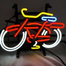 "New Belgium Fat Tire Bicycle White Beer Bar Real Neon Light Sign 13""x9"
