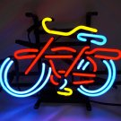 "New Belgium Fat Tire Bicycle Blue Beer Bar Real Neon Light Sign 13""x9"""