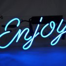 "New 'Enjoy' Beer Bar Pub Art Banner Real Neon Light Sign 10""x9"" [High Quality]"