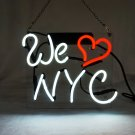 "'We Love NYC' New York City USA Beer Bar Art Banner Gift Neon Light Sign 10""x8"""