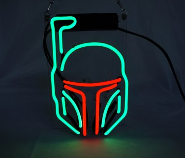 "Brand New Star Wars Mask Art Banner Display Beer Bar Real Neon Light Sign 10""x7"""