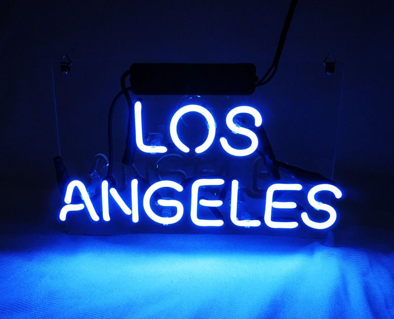 """New 'Los Angeles' City Handcrafted Home neon Light bar sign 15""""x5"""