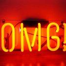 "Handmade 'OMG' Oh My God Wedding Beautiful Banner Art Light Neon Sign 12""x6"""