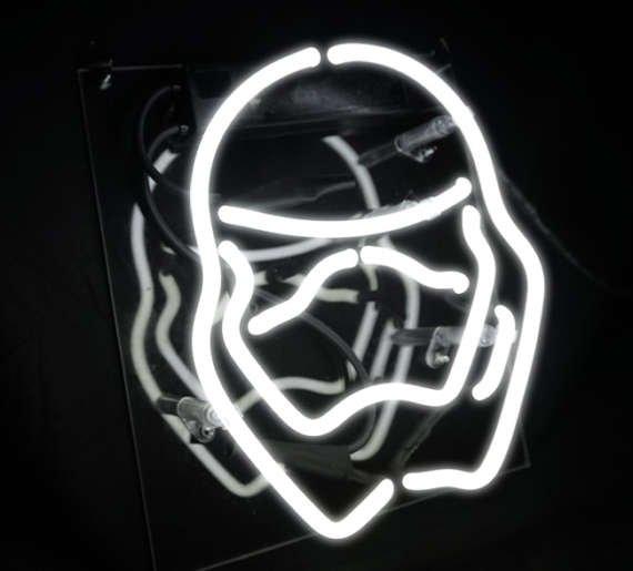 "Handmade 'Star Wars' Art Light Banner Room Decor Neon Light Sign 8""x8"""