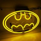 "Handmade 'Batman' Movie Superhero Banner Art Light Neon Sign 13""x8"""