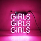 "New 'Girls Girls Girls' Club Bar Pub Art Neon Sign 9""x9"""