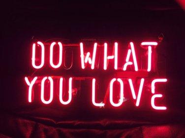 "New 'Do what you Love' Wedding Art Banner Real neon light sign art Sign 11""x8"""