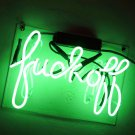 "Handmade 'Fuck Off' Gaming Recreational Art Light Room Decor Neon Sign 12""x8"""