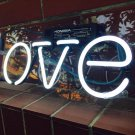 "Handmade 'Love' Wedding Art Light Banner Room Decor Neon Sign 13""x6"""