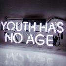 "Handmade 'Youth Has no Age' Wedding Art Banner Room Decor Neon Light Sign 14""x6"""
