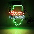 "New illinois Handcraft Home Wall Man Cave Lamp Art Sign Neon Sign 11"" by 7"""