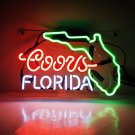 "New Coors FLORIDA Handcraft Home Wall Man Cave Lamp Art Sign Neon Sign 11"" by 7"""