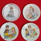 Avon Mother's Day Plates 4 1987 1988 1989 1991 5 inch