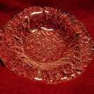 Texture Clear Glass Dish Art Glass Candy Trinket Heavy