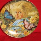 April Collector Plate Blonde Girl Butterflies Ruth Escalera Special Moments