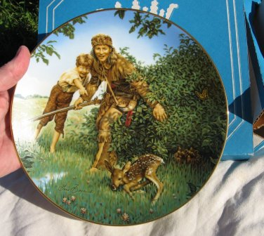 Davy Crockett Plate #2 Collectible 1984 American Folk Heroes
