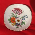 Falcon Ware Floral Dish Plate 4 3/4 Inches Trinket Dish Flowers Falconware