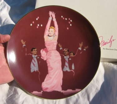 Plate Marilyn Monroe Plate Gentlemen Prefer Blondes Collectible
