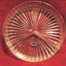 Lead Crystal Glass Relish Tray Candy Dish American Crystal Cut 8 Inch
