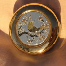 Black Chokin Jewelry Trinket Box Floral Gold Trim Japan