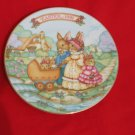 Avon Easter Plate 1991 5 inch Springtime Stroll Bunnies Bunny Rabbit
