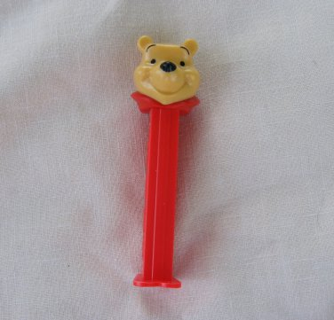 PEZ Candy Dispenser Winnie the Pooh Bear Disney Red Footed Hungary