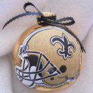 NFL New Orlean Saints 4 Inch Xmas Glass Ornament - New - Great Gift -