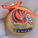 NFL Cincinnati Bengals 4 Inch Xmas Glass Ornament - New - Great Gift -