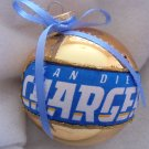 NFL San Diego Chargers 4 Inch Xmas Glass Ornament - New - Great Gift -