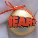 NFL Chicago Bears 4 Inch Xmas Glass Ornament - New - Great Gift -