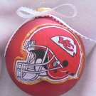 NFL Kansas City Chiefs 4 Inch Xmas Glass Ornament - New - Great Gift -