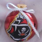 NFL Tampa Bay Buccaneers 4 Inch Xmas Glass Ornament - New - Great Gift -