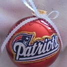 NFL New England Patriots 4 Inch Xmas Glass Ornament - New - Great Gift -