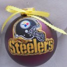 NFL Pittsburg Steelers 4 Inch Xmas Glass Ornament - New - Great Gift -