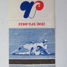 Montreal Expos 1976 Baseball Schedule Canada 30 Strike Sports Matchbook Cover