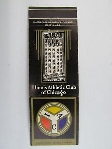Illinois Athletic Club of Chicago 20 Strike Vintage Sports Matchbook Match Cover